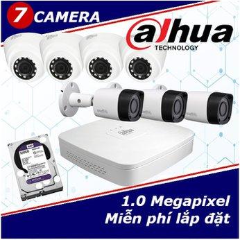 Camera Trọn Gói 7 Camera DAHUA 1.0mp