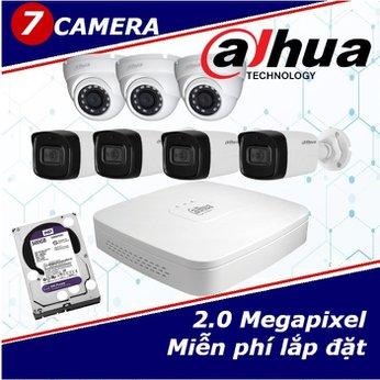 Camera Trọn Gói 7 Camera DAHUA 2.0mp