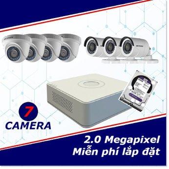 Camera trọn gói 7 camera 2 mp full HD