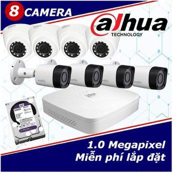 Camera Trọn Gói 8 Camera DAHUA 1.0mp