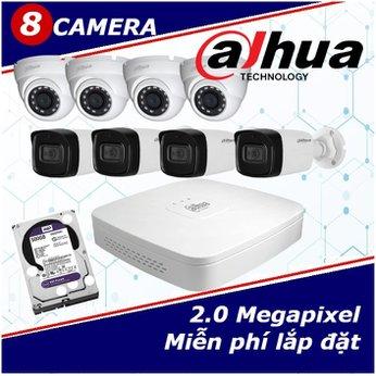 Camera Trọn Gói 8 Camera DAHUA 2.0mp