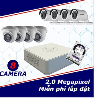 Camera trọn gói 8 camera 2 mp full HD