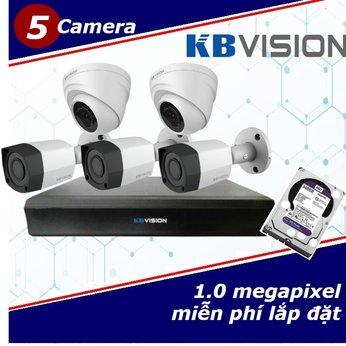 Camera Trọn Gói 5 Camera KBVISON 1.0mp
