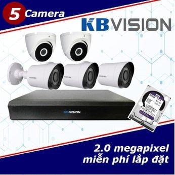 Camera Trọn Gói 5 Camera KBVISION 2.0mp