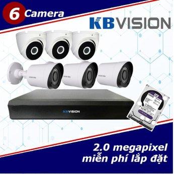 Camera Trọn Gói 6 Camera KBVISION 2.0mp