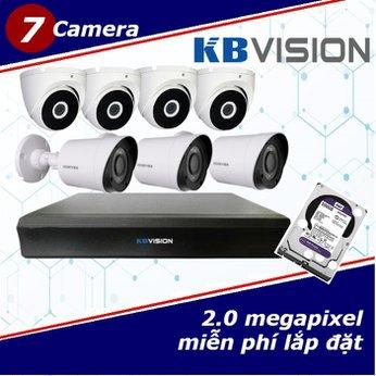 Camera Trọn Gói 7 Camera KBVISION 2.0mp