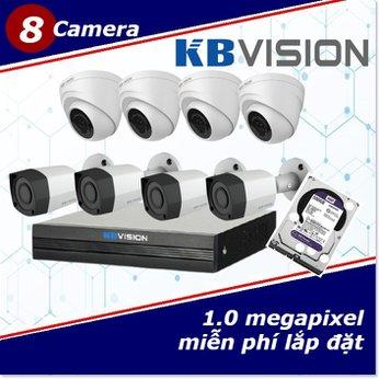 Camera Trọn Gói 8 Camera KBVISION 1.0mp