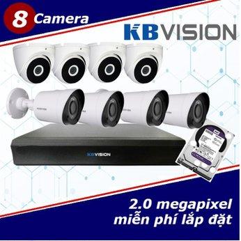 Camera Trọn Gói 8 Camera KBVISION 2.0mp
