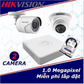 Camera Trọn Gói 2 Camera HIKVISION  1mp HD