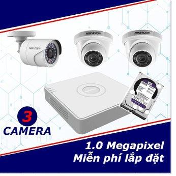 Camera Trọn Gói 3 Camera 1mp HD