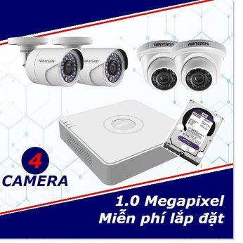 Camera Trọn Gói 4 Camera 1mp HD