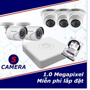 Camera Trọn Gói 5 Camera 1mp HD