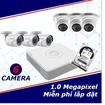 Camera Trọn Gói 6 Camera 1mp HD