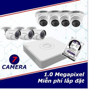 Camera Trọn Gói 7 Camera 1mp HD