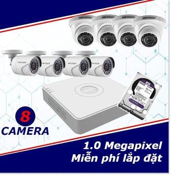 Camera Trọn Gói 8 Camera 1mp HD
