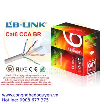 Cáp mạng LB-LINK Cat6 UTP CCA 305m dây màu trắng - Hàng Chính Hãng