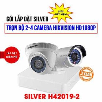 Trọn bộ 2 camera Hikvision HD1080P cho công ty (SILVER H42019-2)