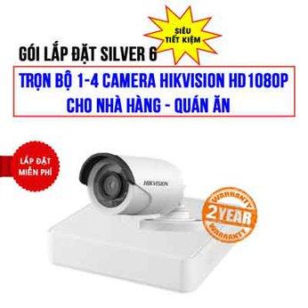 Trọn bộ 1-4 camera HIKVISION HD1080P cho Nhà hàng – Quán ăn (Gói Silver 6)
