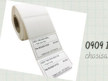 Giấy in decal nhiệt, in tem, in mã vạch giá rẻ