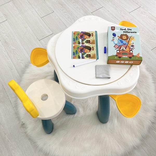 Bộ bàn Lego Gấu nhỏ - đồ chơi thông minh phát triển trí tuệ sáng tạo cho bé yêu