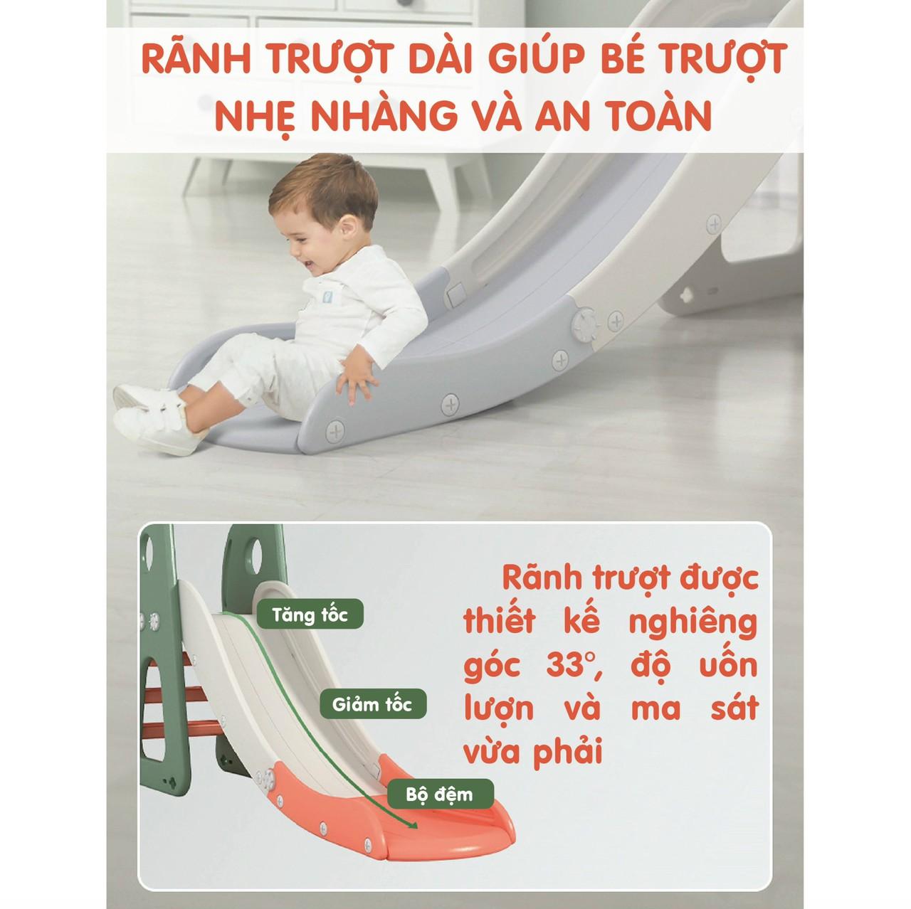 Cầu trượt Holla 5in1 - Bộ đồ chơi vận động và phát triển cho bé yêu