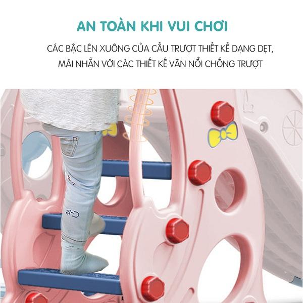 Cầu trượt xích đu hải cẩu - đồ chơi giúp bé tránh xa tivi, điện thoại