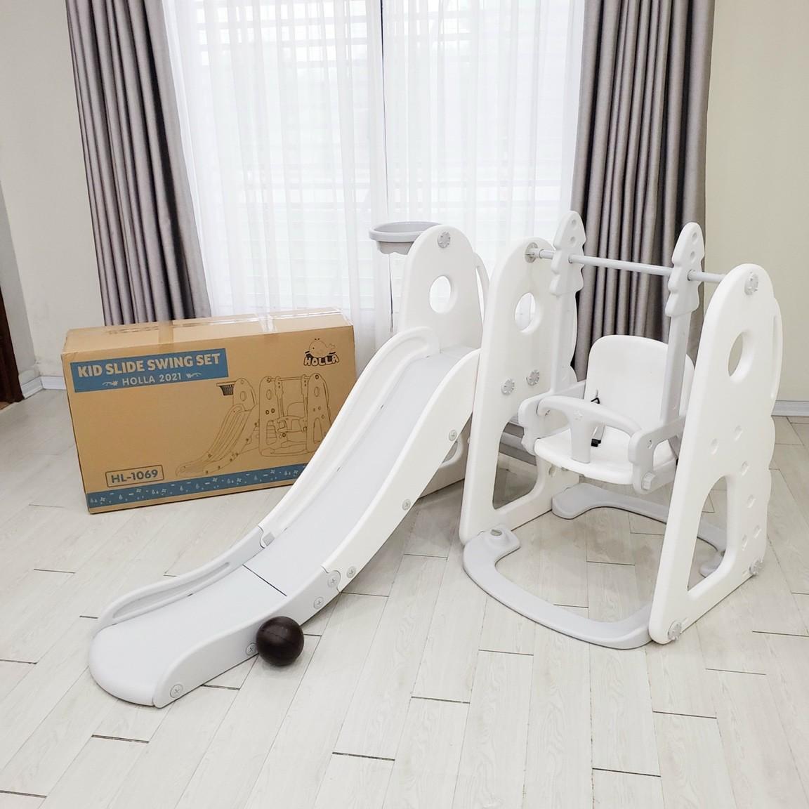 Cầu trượt xích đu Holla - đồ chơi vận động phát triển tự nhiên cho bé