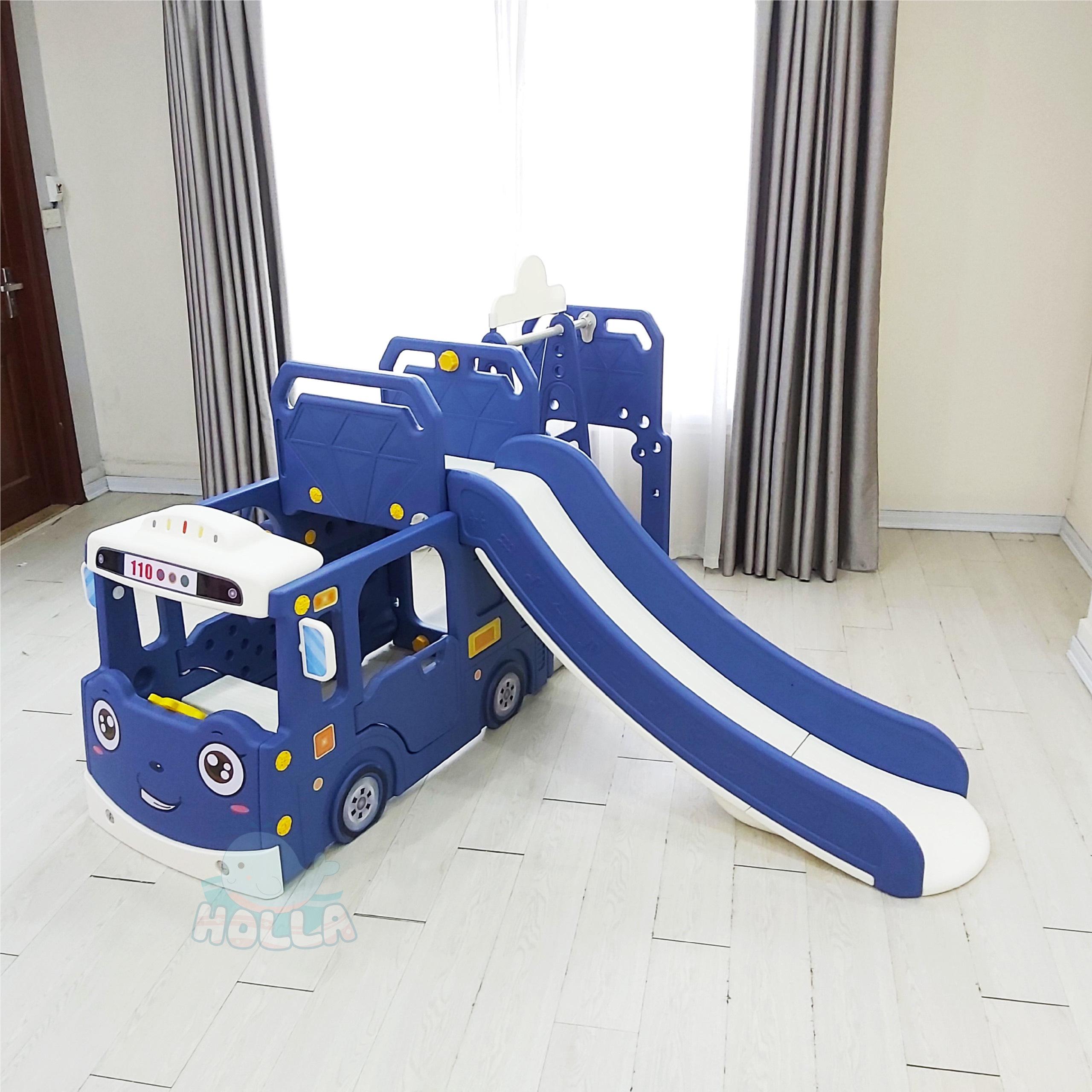 Cầu trượt xích đu ô tô Holla - Bé thỏa sức chơi vui ngay tại nhà?