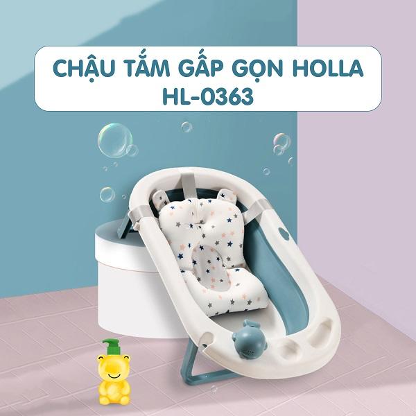 Chậu tắm kèm phao Holla - việc tắm gội cho bé sẽ cực kỳ đơn giản