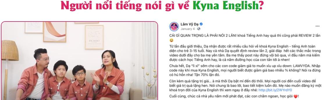Kyna English Online - khóa học tiếng anh tuyệt vời bé từ 3-15 tuổi