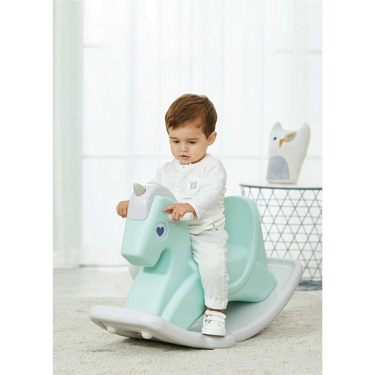 Ngựa bập bênh Holla 2 tính năng bập bênh và làm xe chòi chân cho bé