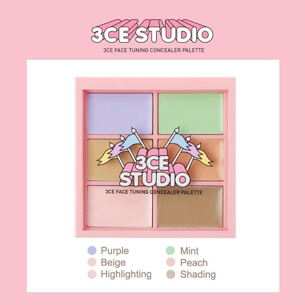 Bảng màu 3CE Studio Face Tuning Concealer Palette vừa che khuyết điểm vừa highlight và contour