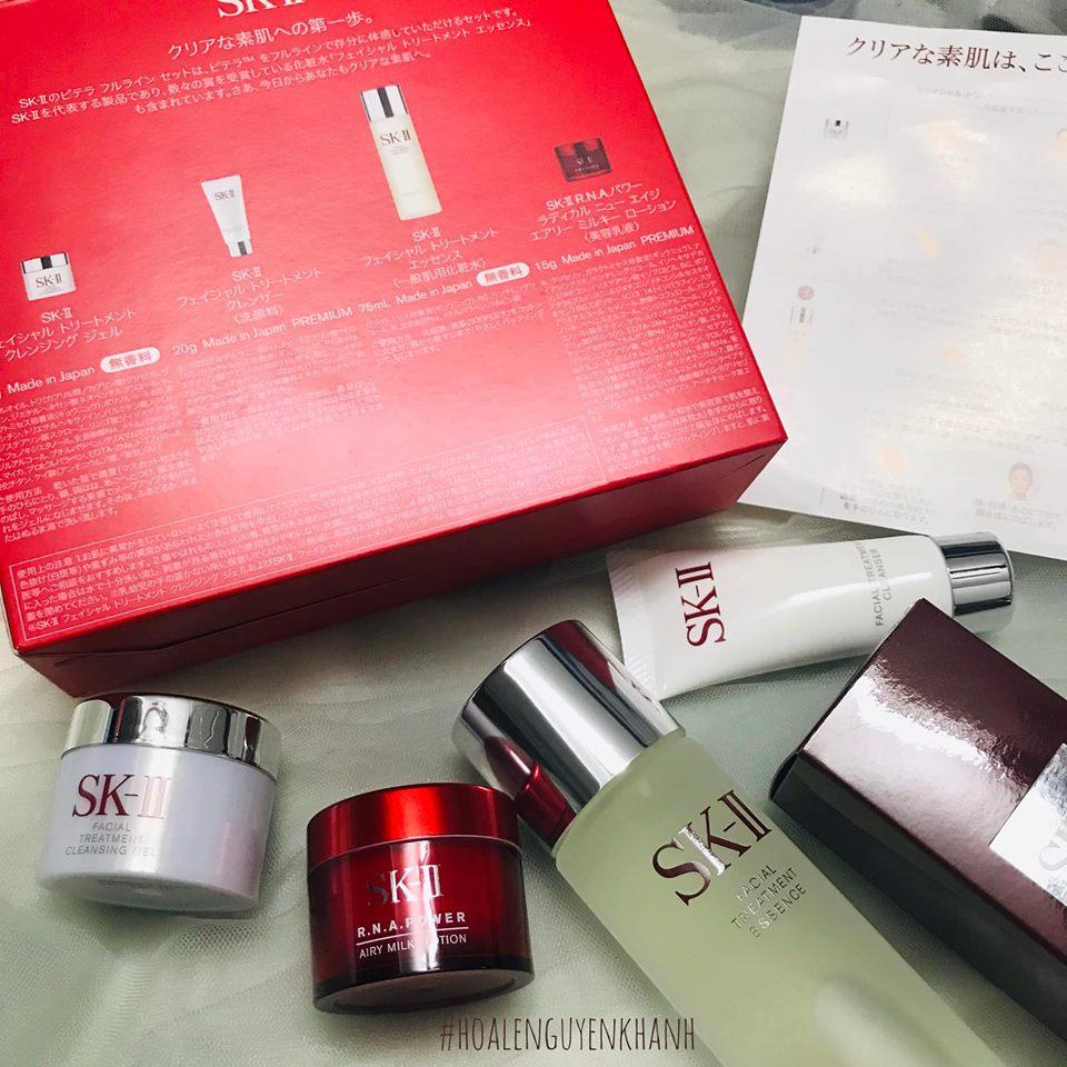 Bộ Fullset dưỡng da của SKIIPiteraFull Line Set Limited