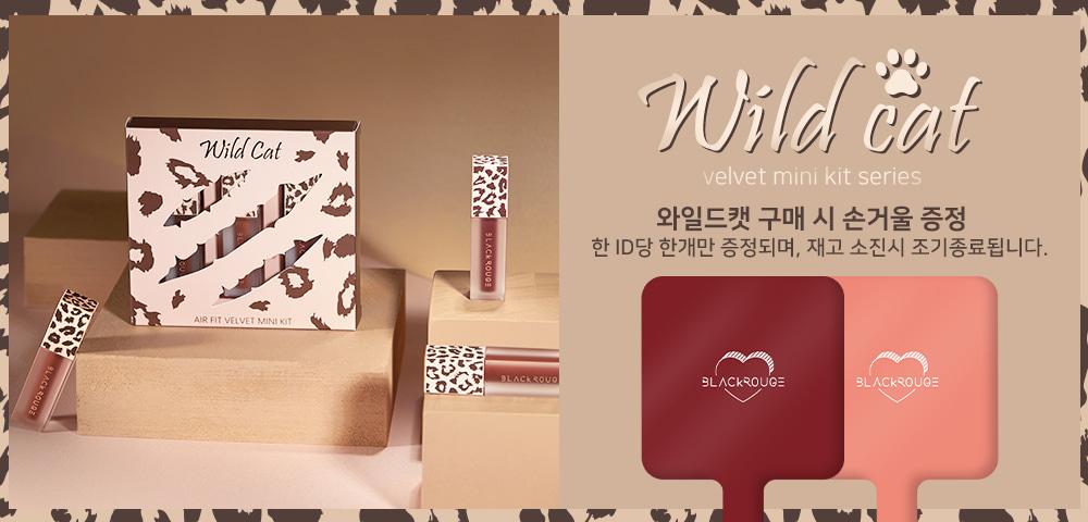 Bộ kit son kem lì Black Rouge Air Fit Velvet Mini Kit - Wildcat