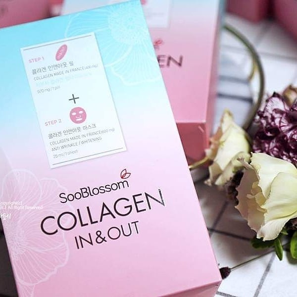 Mặt nạ cao cấp cấp Collagen và phục hồi da SOOBLOSSOM COLLAGEN IN AND OUT