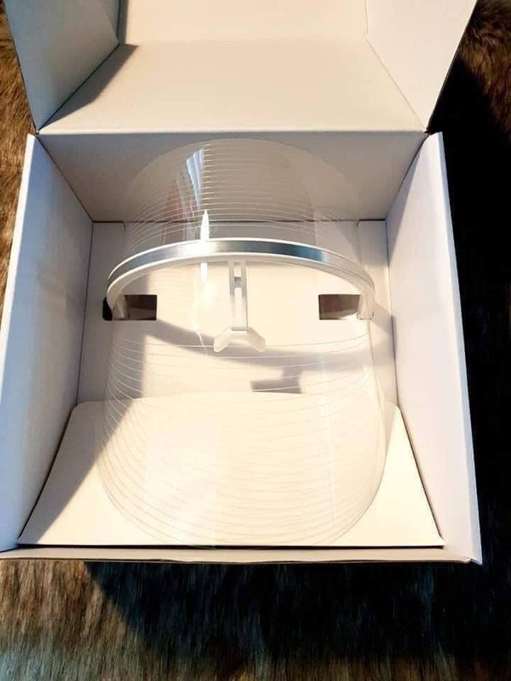 Mặt nạ đèn led ánh sáng trị liệu và chăm sóc da Wellderma Led Light Therapy GenieFace Mask