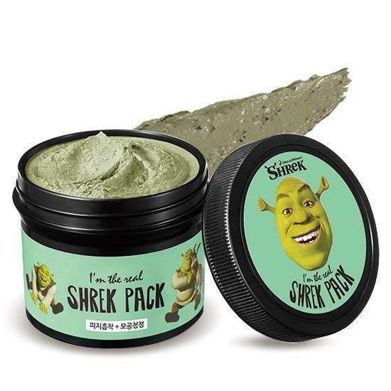 Mặt nạ tươi đất sét chiết xuất bạc hàI'm The Real Shrek Pack củaOlive Young