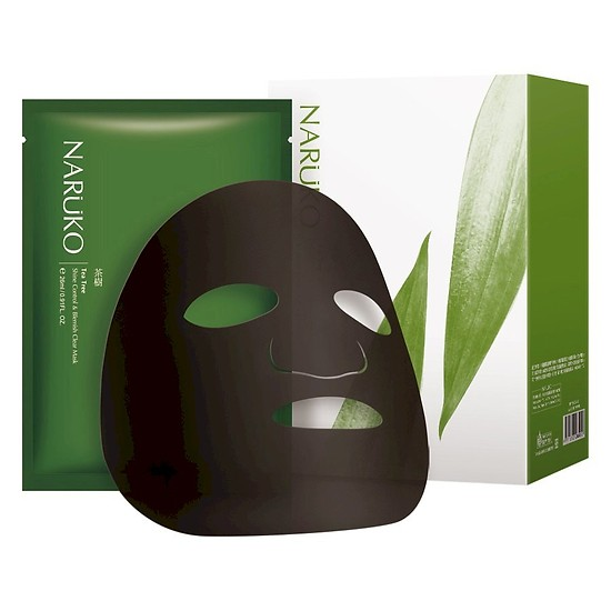 Mặt nạ kiểm soát dầu và giảm mụn thâmNaruko Tràm Trà Bản Đài - Tea Tree Shine Control And Blemish Clear Mask