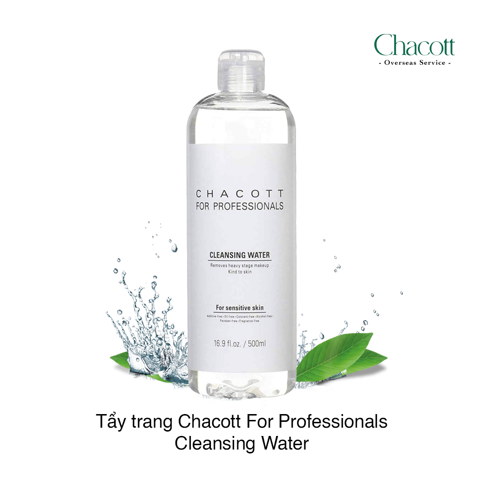 Nước tẩy trang Nhật Bản Chacott For Professionals Cleansing Water For Sensitive Skin