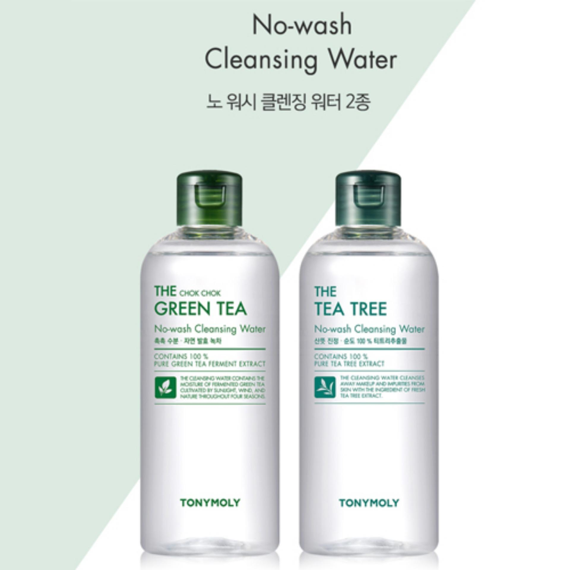 Nước tẩy trang trà xanh Tonymoly The Chok Chok Green Tea No-wash Cleansing Water