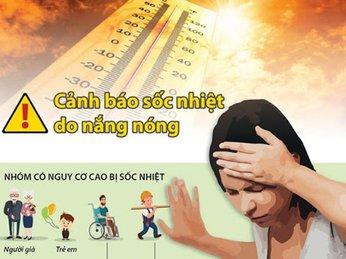 Cẩn thận với triệu chứng sốc nhiệt khi trời nắng