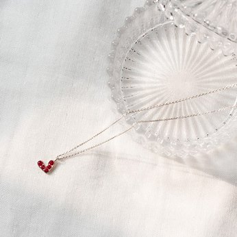 Dây chuyền bạc với trái tim mini All-Silver Mini Heart Necklace