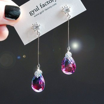 Đôi bông tai lấp lánh Gradient Drop Drop Earrings