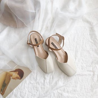 Đôi giày nữ cao cấp Quảng Châu phong cách công sở theostyle Hàn Quốc