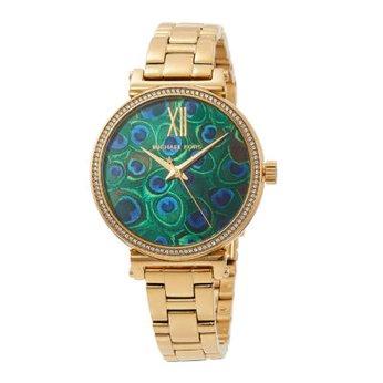 Đồng hồ nữ với thiết kế họa tiết khổng tướcMichael Kors