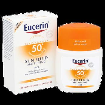 Kem Chống Nắng dạng lỏng Eucerin Sun Fluid Mattifying SPF50+ 50ml