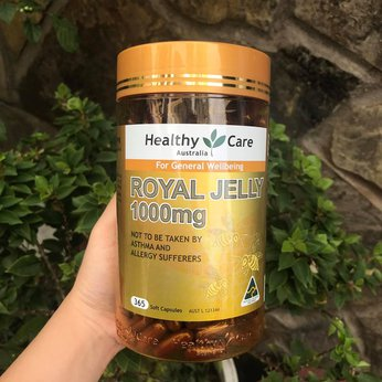 Sữa ong chúa Healthy Care Royal Jelly 1000 365 Capsules