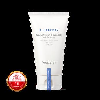 Sữa rửa mặt cân bằng độ pH Innisfree Blueberry Rebalancing 5.5 Cleanser 100ml chiết xuất từ quả Việt Quất