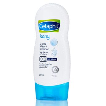 Sữa tắm dưỡng ẩmCetaphil Baby Gentle Wash and Shampoo 230ml dành cho bé