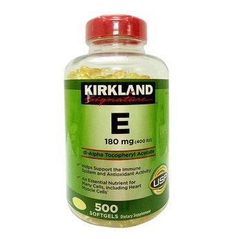 Viên uống bổ sungVitamin E400 I.U Kirkland Signature 500 Viêngiúp làm đẹp da và ngăn ngừa lão hóa